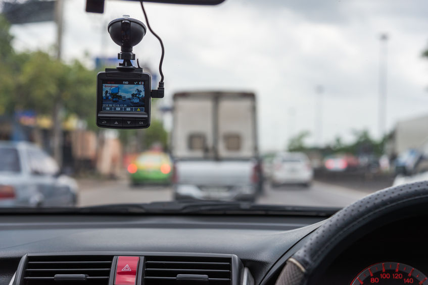 car video recorder installed on the window., tested dash cams for your vehicle
